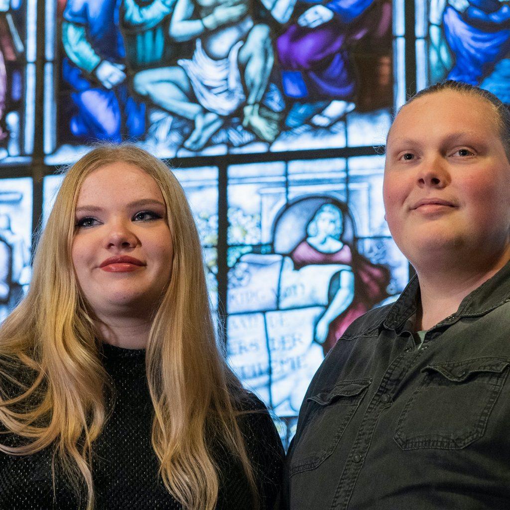 Dylan en Farah Lintelo (artiesten): verzorgden maandenlang optredens bij zorginstellingen